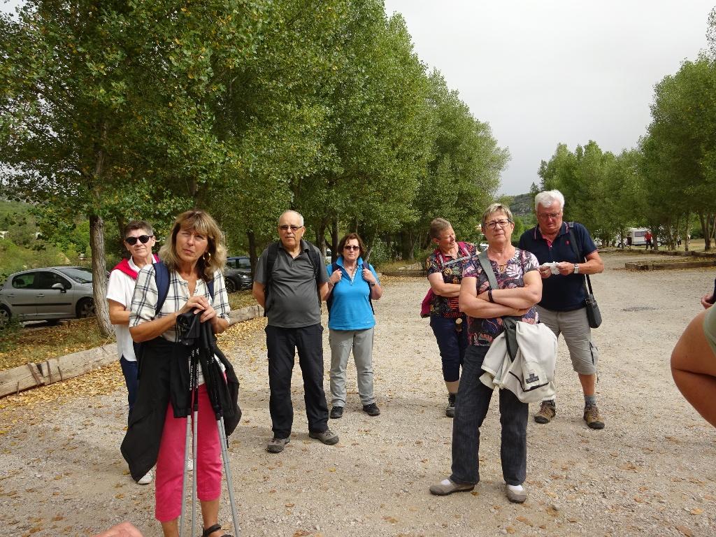 Le petit groupe des touristes