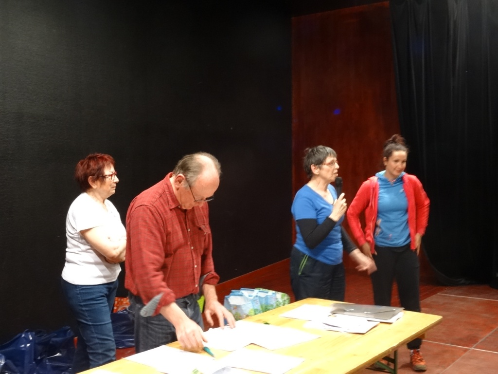 Les responsables d'Handisport Meuse présentent leur association