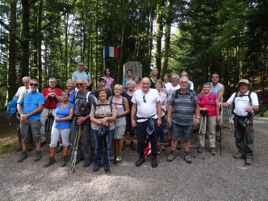 Le groupe des 24 courageux au Col du Page