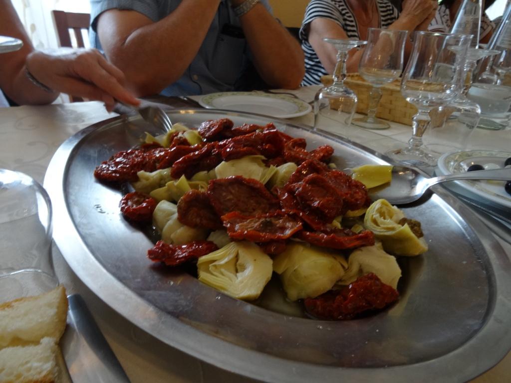 Repas au restaurant italien d'Etroubles