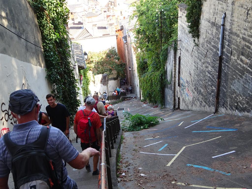 Descente vers le vieux Lyon