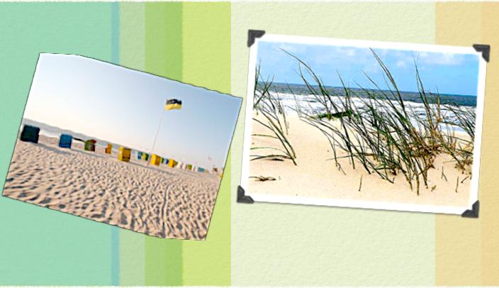 Genießen Sie die Sonne am schönen Strand mit blauem Wasser.