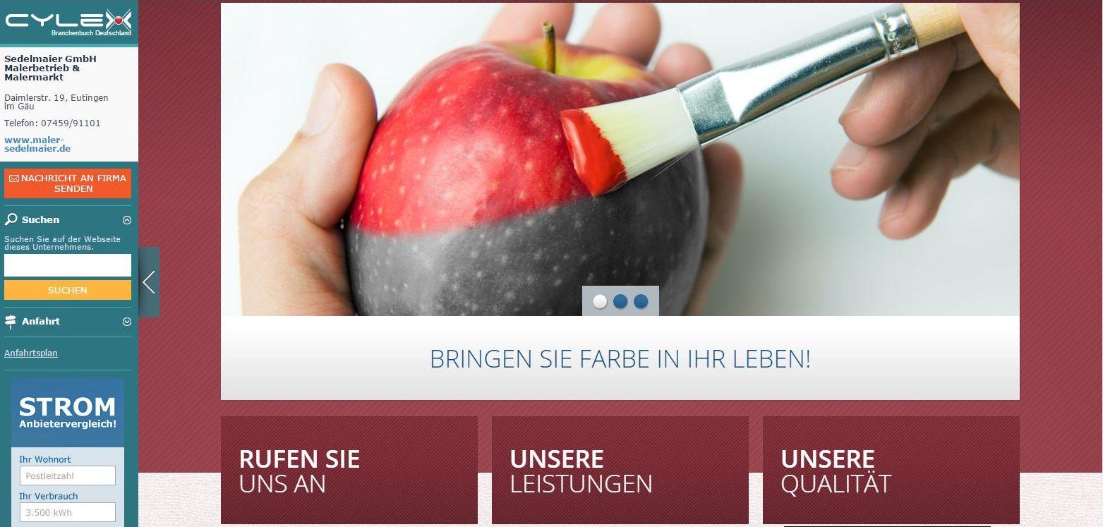 HERZLICH WILLKOMMEN  BEI DER SEDELMAIER GMBH http://www.maler-sedelmaier.de/
