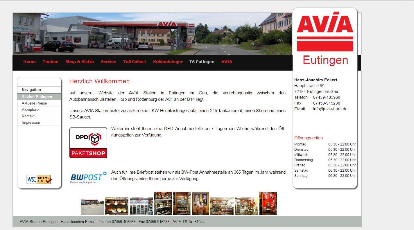 AVIA Tankstelle  Eutingen Hans Joachim Eckert