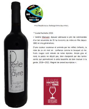 grand vin rouge Bordeaux 2012, médaille, Challenge Entre-deux-Mers, vin vidéo, tasted Larson, guide hachette 2016, Gilbert & Gaillard, Dussert Gerber, Challenge entre 2 mers,