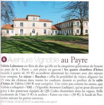 Aventure vignoble, Château du Payre, Hors série Mars/Avril 2016 - Terre de Vins - 400 belles étapes dans les vignes