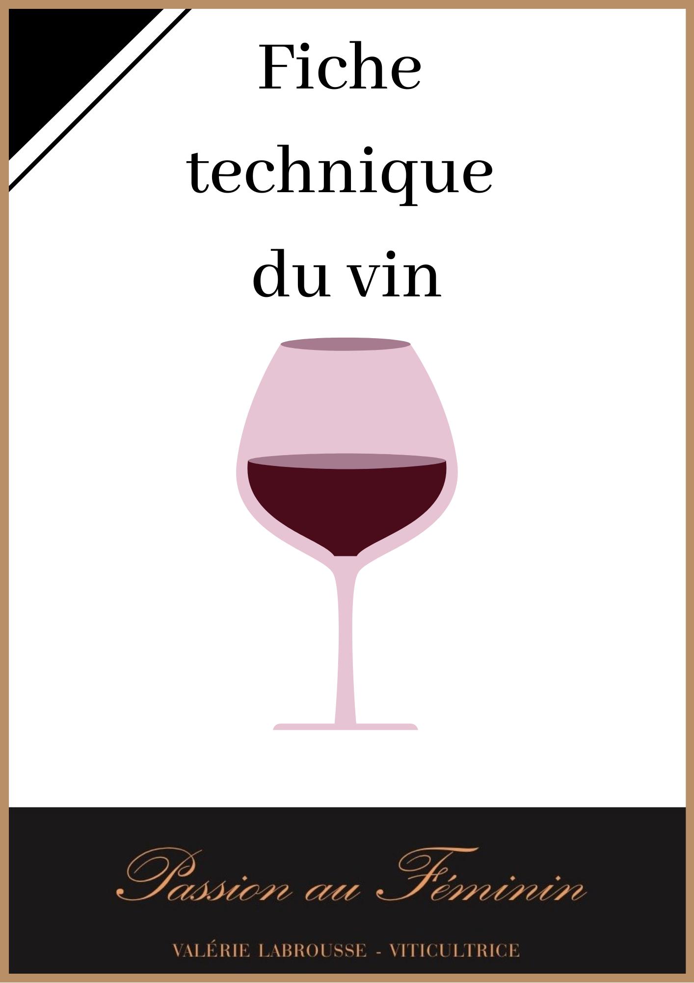 Fiche technique 100% pur Jus de raisin Rouge