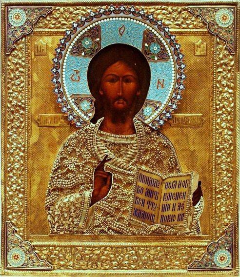 Prunkikone 'Christus Pantokrator' Silberoklad 1908-1917 Erlös 7500 €