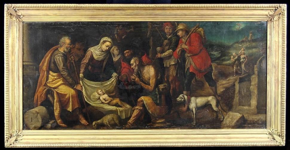 'Heilige Familie' 17. Jhd. mit Schinkel-Rahmen aus altem Berliner Museumsbesitz