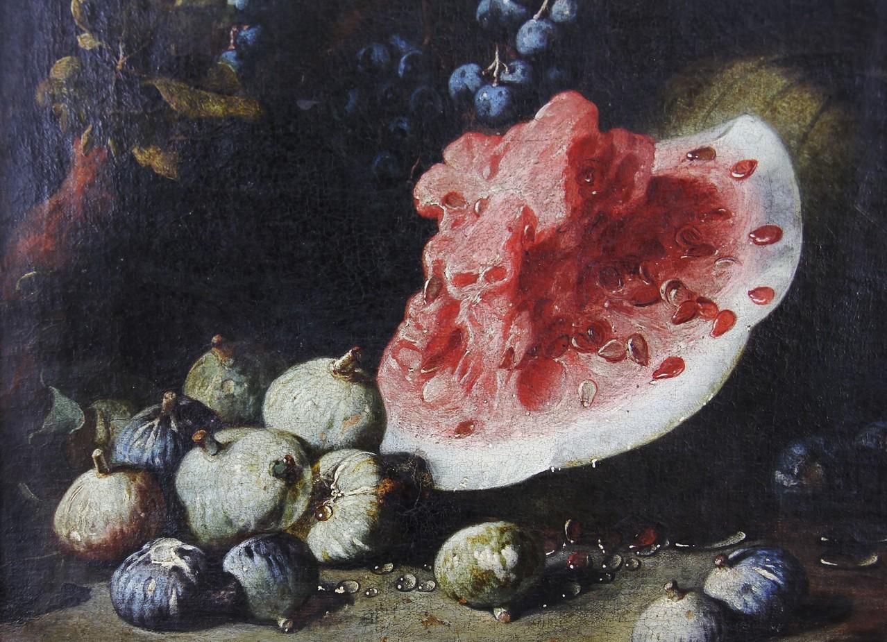 Bartolomeo Bimbi, 'Früchtestilleben mit Melone' des Florentiner Barock-Malers