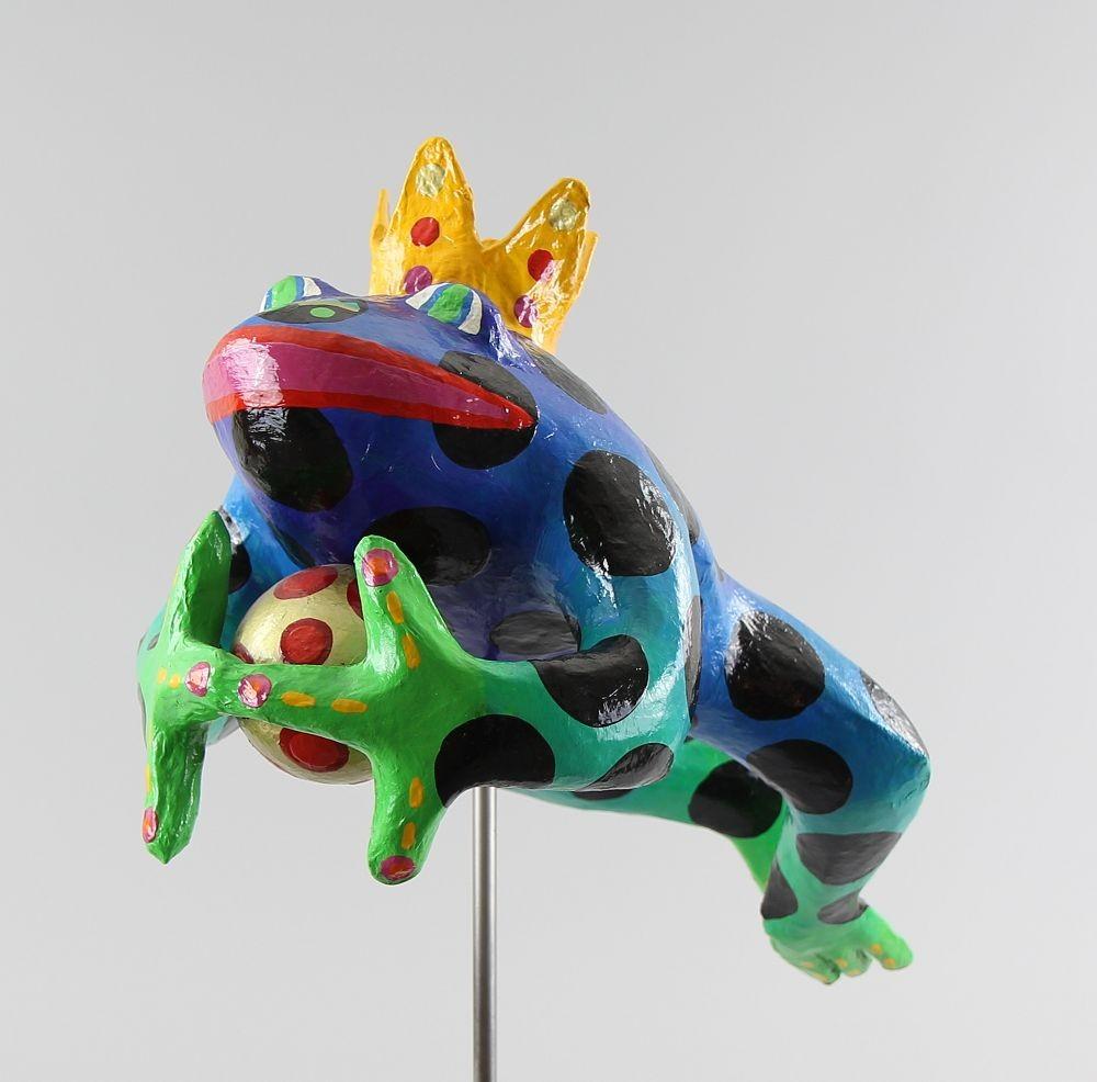 Cilia de Munnik, Skulptur Froschkönig, 1996, 55cm, Limit 200€