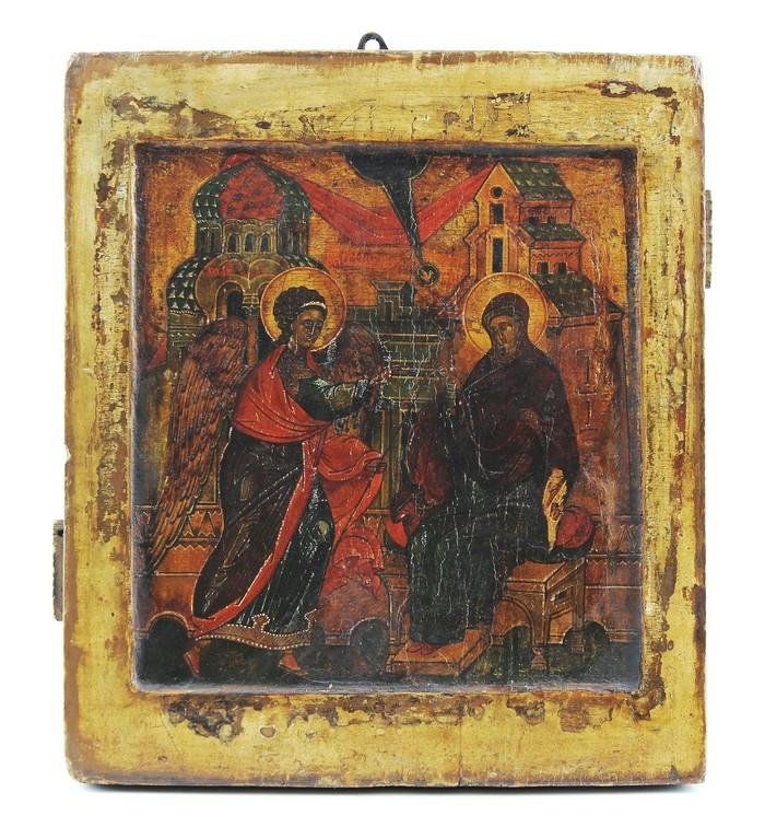 Russische Ikone ' Maria Verkündigung' 18.Jahrhundert