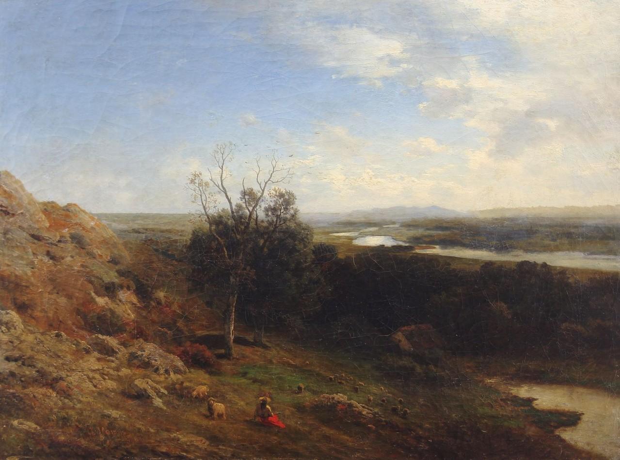 Albert Flamm Düsseldorf, Italienische Landschaft, Ölgemälde auf der Gemäldeauktion