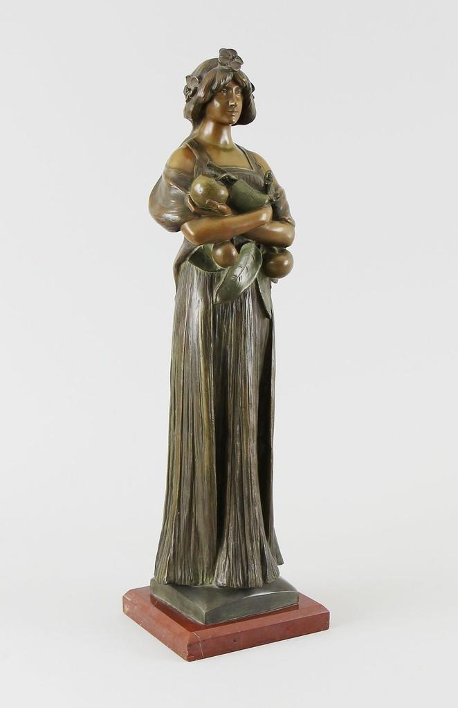 Pomona, Metallguss patiniert, Vergana ? um 1900, Ohne Limit auf der Kunstauktion