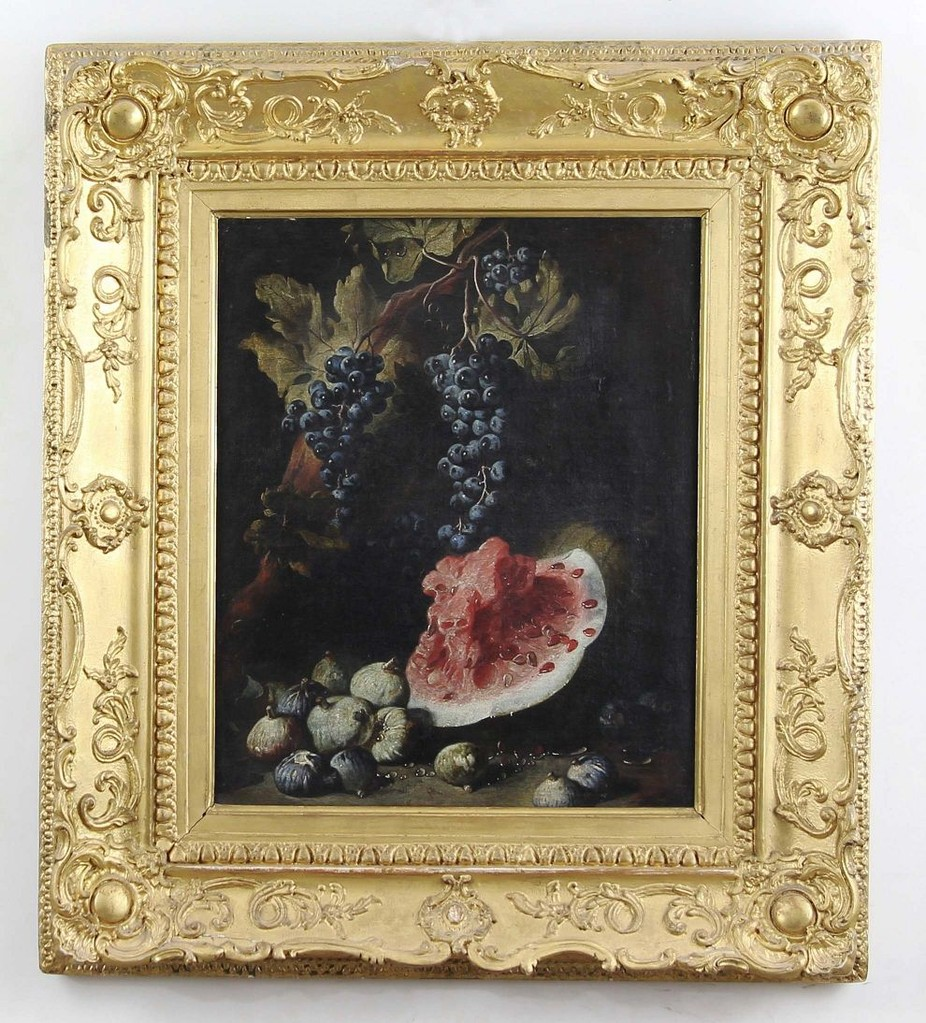 Bartolomeo Bimbi Ölgemälde 'Stilleben mit Melone', Erlös der Gemäldeauktion 11.000€