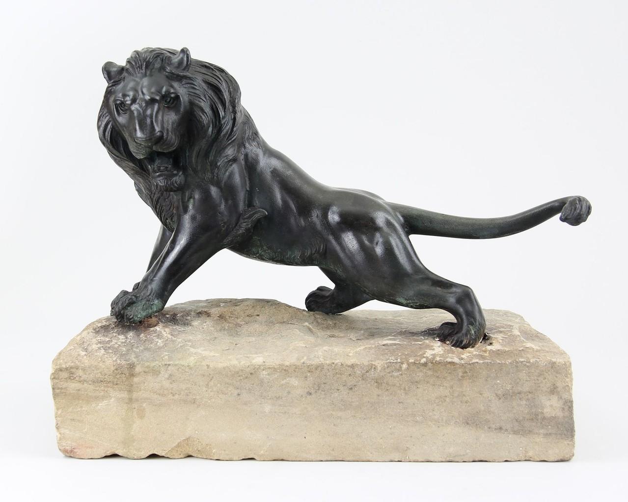 Löwenskulptur Bronze 18. Jhd. Ankauf & Verkauf