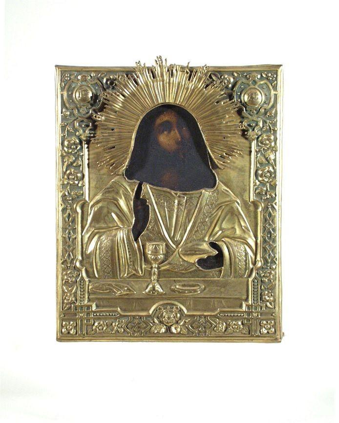 Okladikone 'Christus beim Abendmahl' 19. Jahrhundert