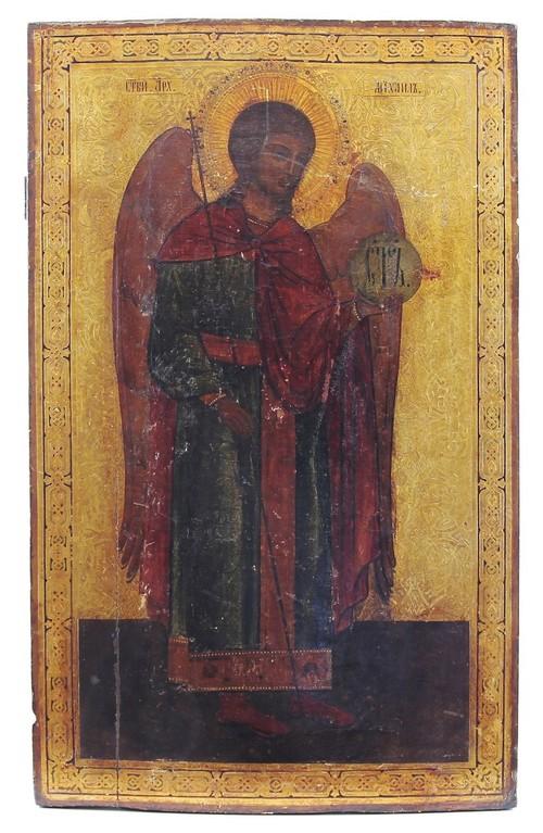 Grosse Ikone 'Erzengel Michael' 19.Jahrhundert Russland