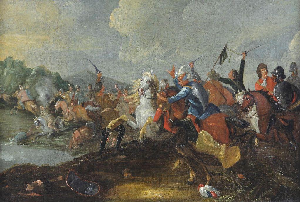 Schlachtengemälde des 18. Jahrhunderts, Gemäldeankauf+Gemäldeauktionen