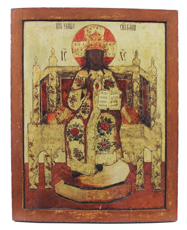 Grosse Ikone 'Christus Pantokrator' Russland 18. Jahrhundert