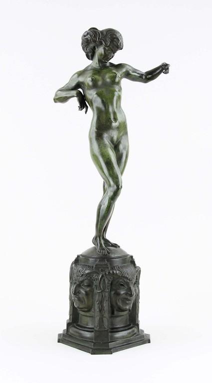 Bronzeskulptur von Ferdinand Liebermann um 1912, Auktionspreis 2500€