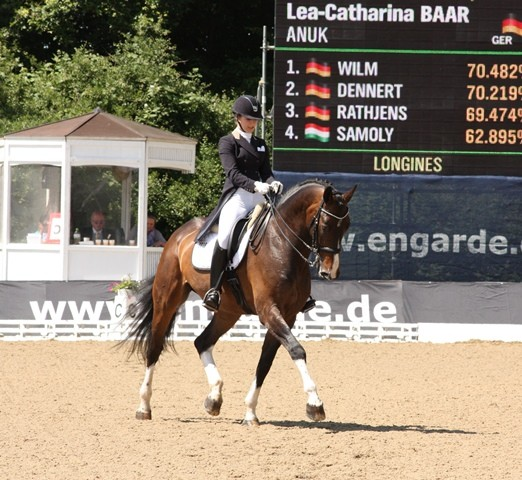 Lea-Catharina Baar auf Anuk - Platz 6