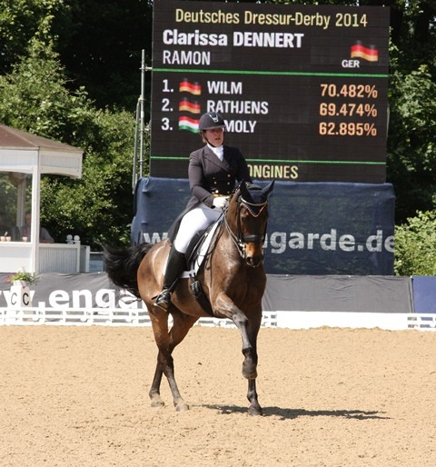 Clarissa Dennert auf Ramon - Platz 4