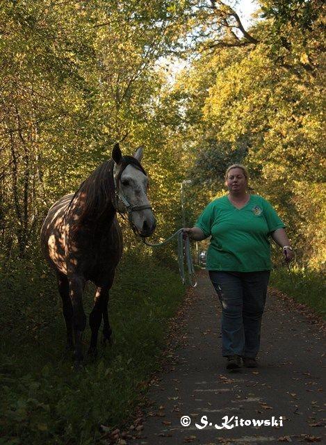 26.10.2010 - Katja und Momo auf dem Weg nach Wilstedt