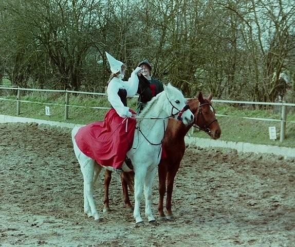 Faschingsreiten Hof Larsson, 1999, Robin Hood und Lady Marian