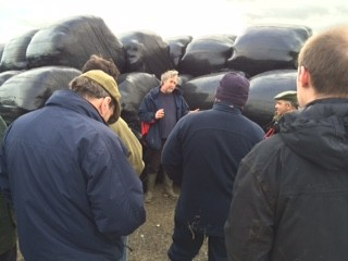 Dr Dave Davis talking about round bale grass silage at the AHDB silage event held at Red Oak Farm