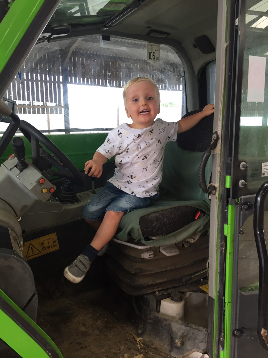 Henry on the loader
