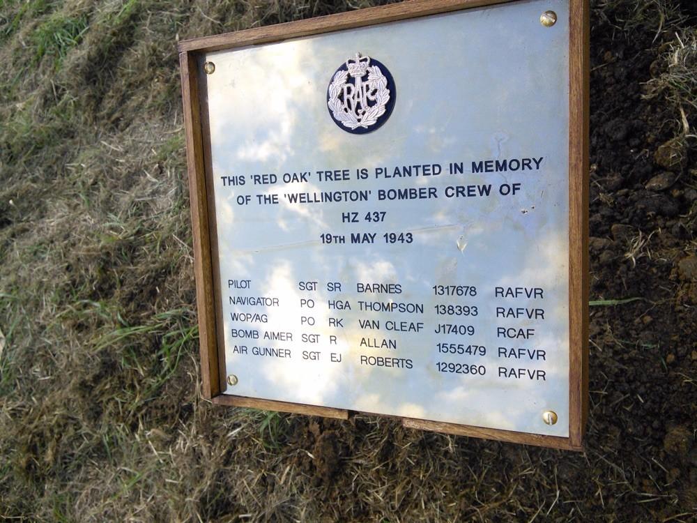 Memorial plaque.