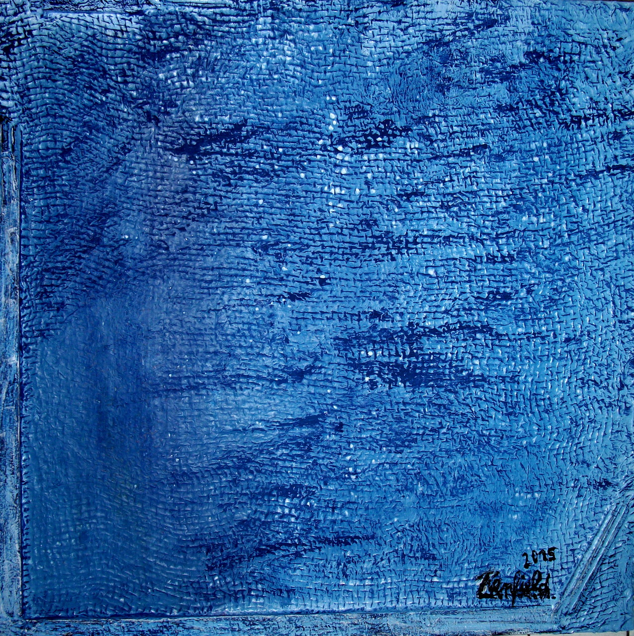 Blue 5 (60 x 60) Acryl auf Leinwand mit Struktur Kaufpreis