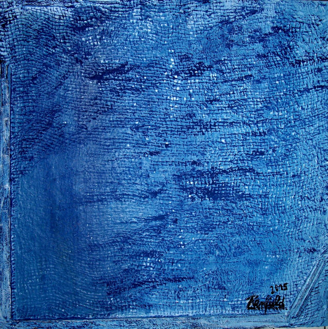 Blue 5 (60 x 60) Acryl auf Leinwand mit Struktur