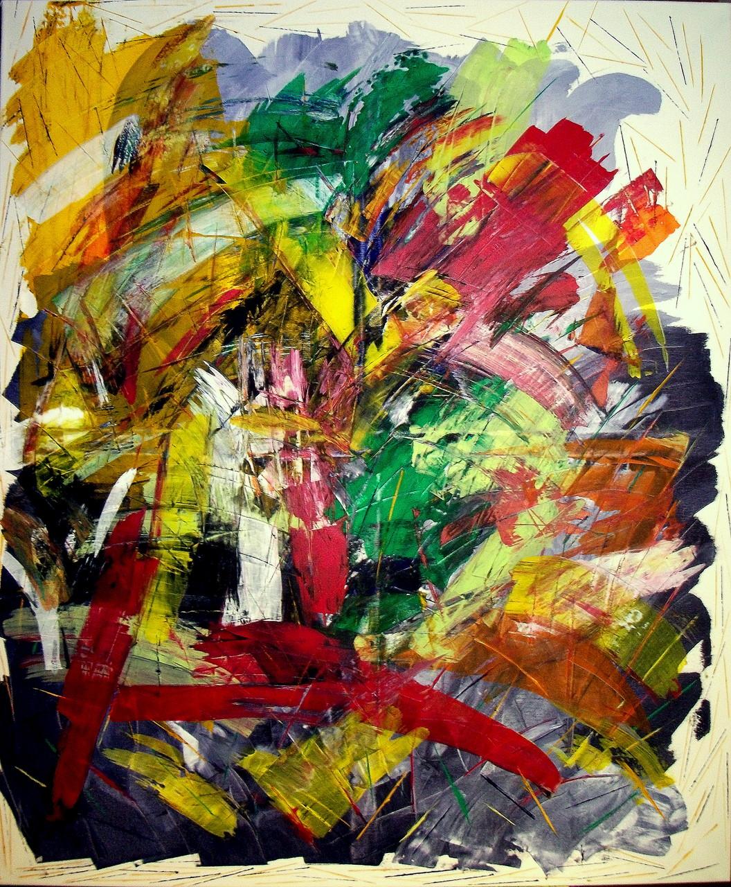 Abstrakte Welten ( 100 x 120) Acryl auf Leinwand