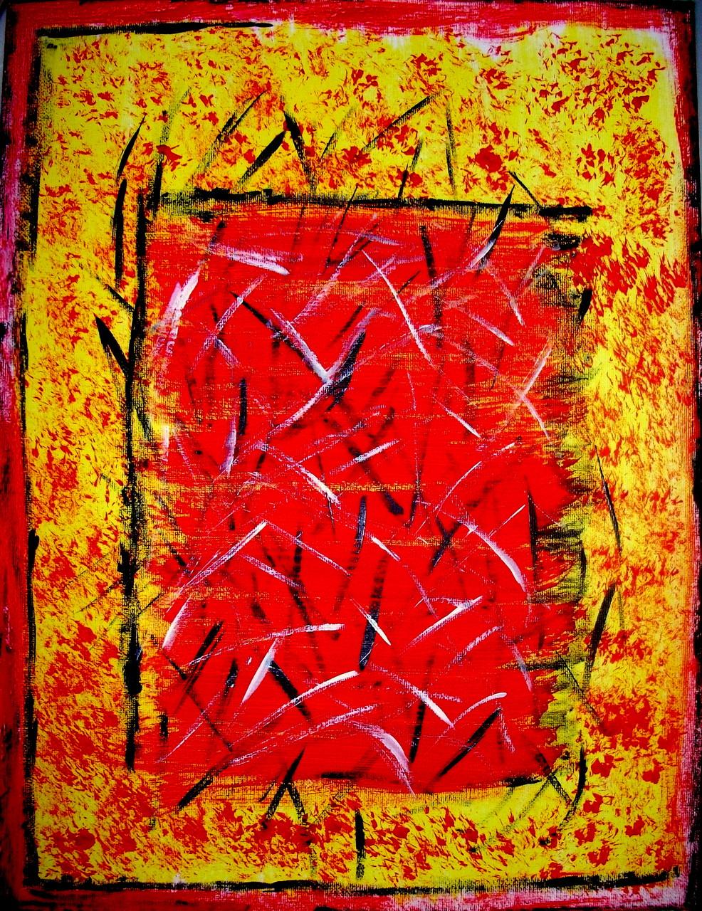 Comic ( 30 x 40 ) Acryl und Struktur auf Leinwand