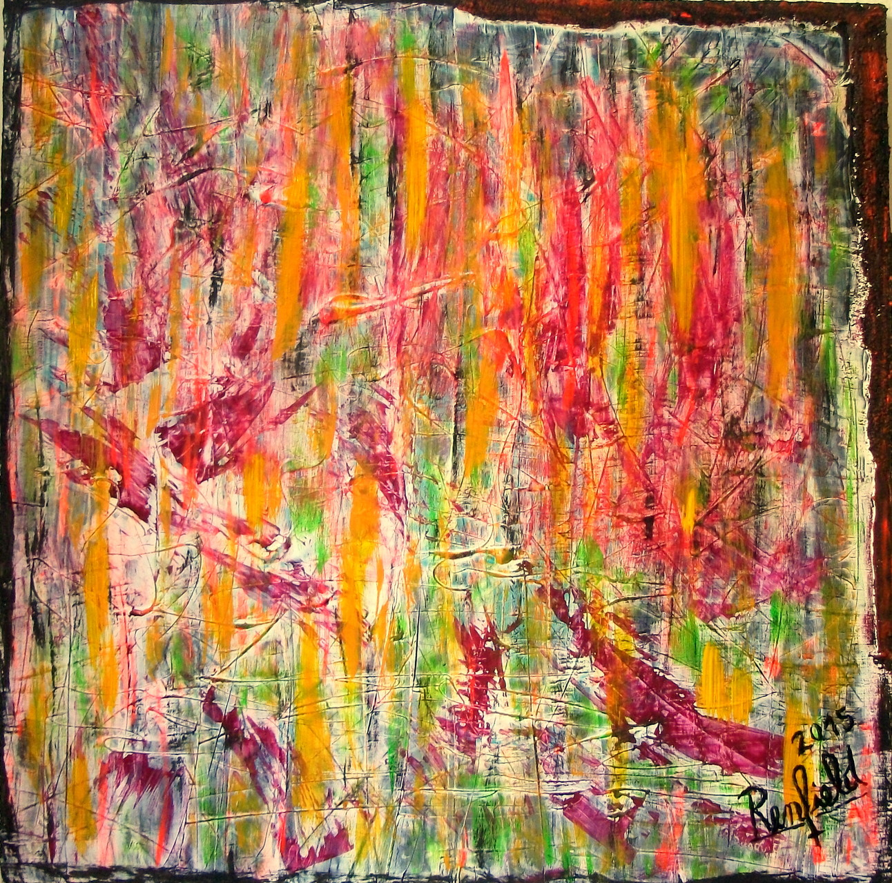 """""""23"""" Acryl, Strukturpaste und Pigmente auf Leinwand (100 x 100 )"""