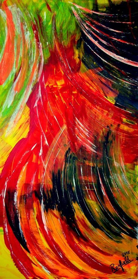 Red Rooster (70 x 140) Acryl auf Leinwand Kaufpreis 450 €uro