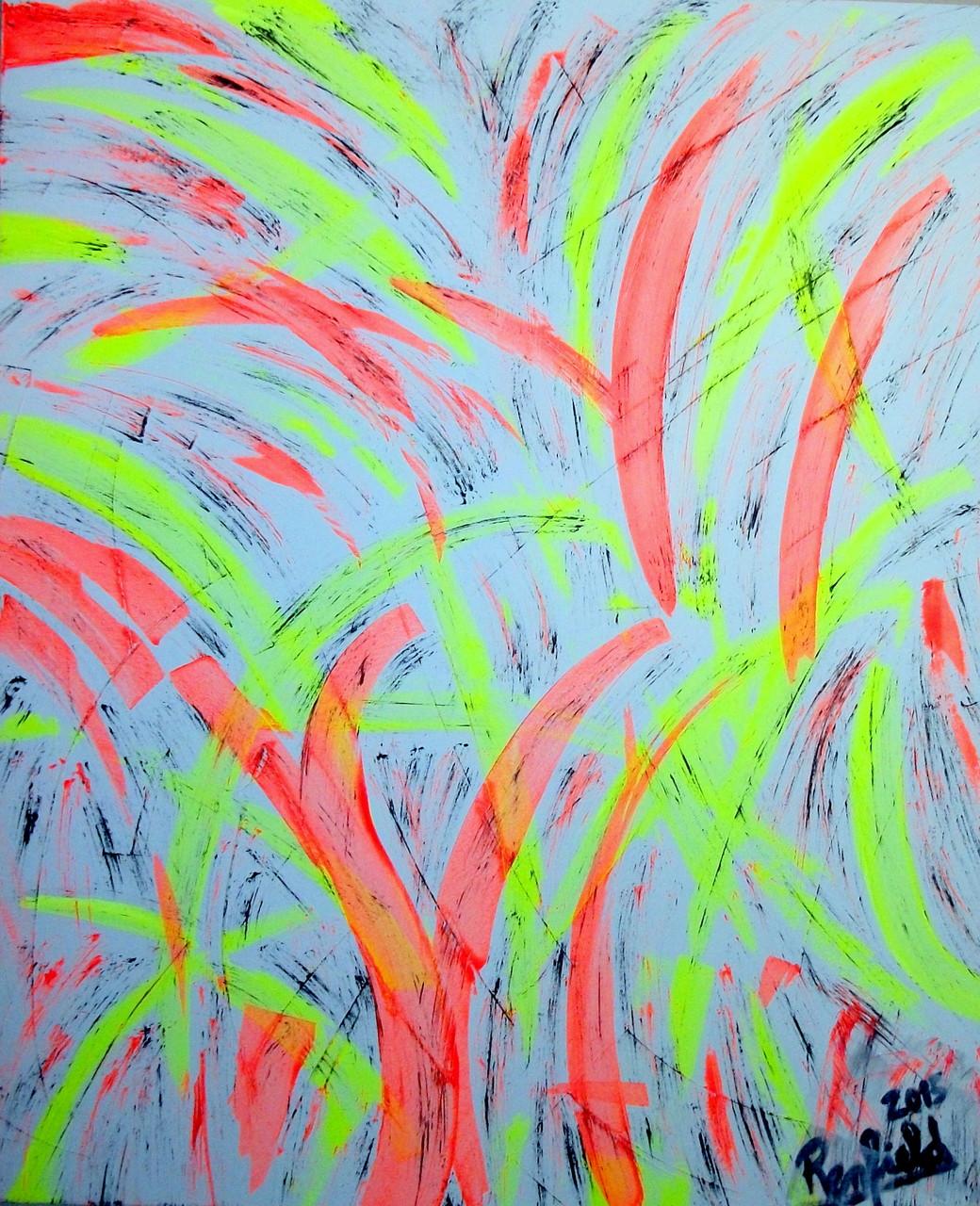 The Light (100 x 120 ) Acryl auf Leinwand mit Leuchtenden Farben