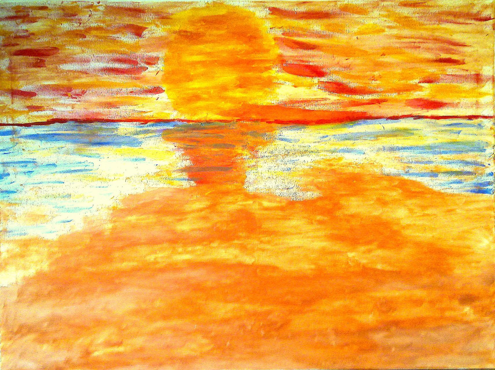 An einem Tag am Meer (80 x 60) Acryl auf Leinwand
