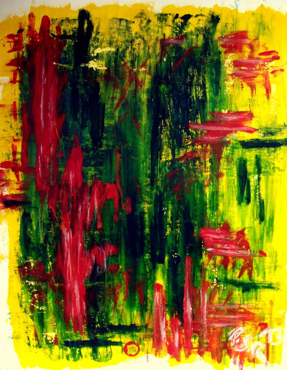 Abstrakt 8 Acryl auf Malpapier ( 50 x 64)