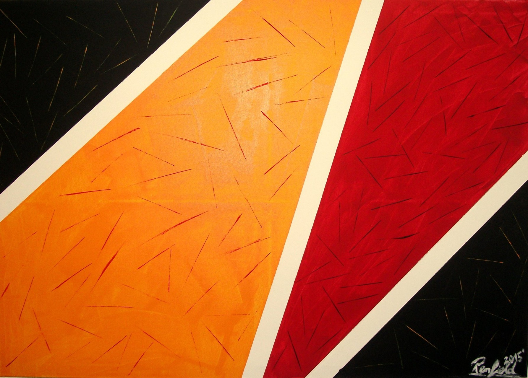 Colors 8 (100 x 70) Acryl und Struktur auf Leinwand