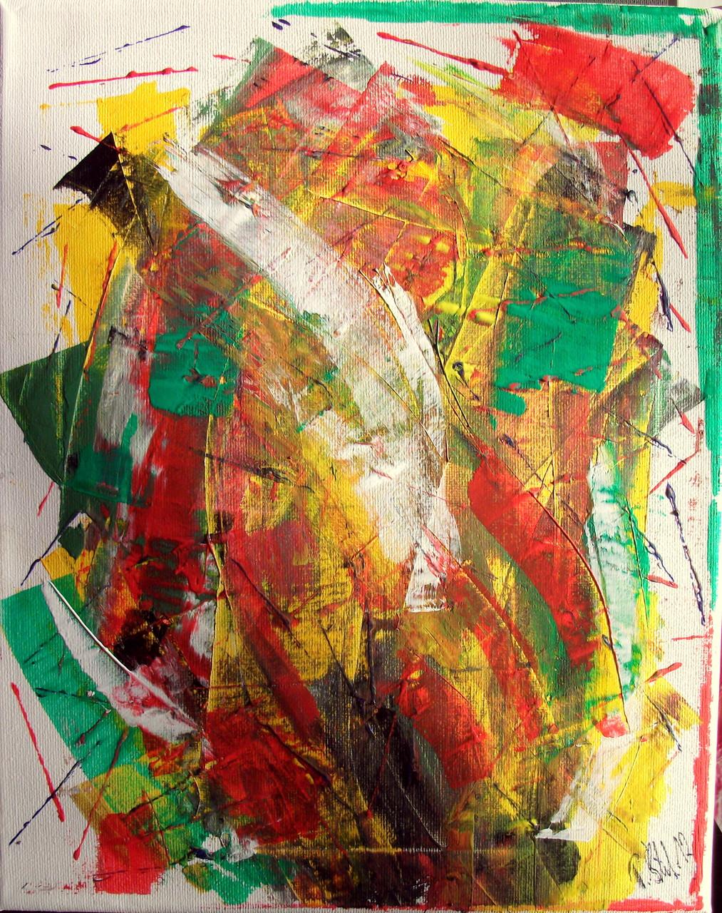 Abstrakte Welten 2 (24 x 30) Acryl auf Leinwand