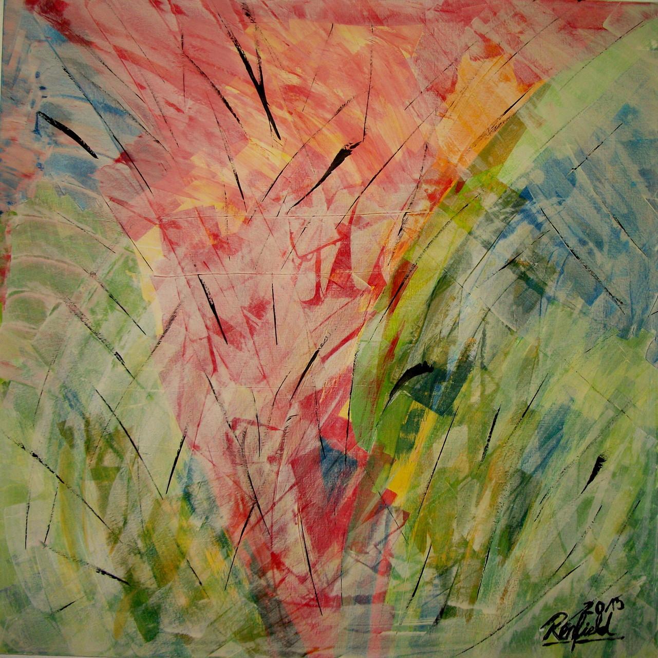 """Wild Style 7"" Acryl auf Leinwand ( 100 x 100 cm)."
