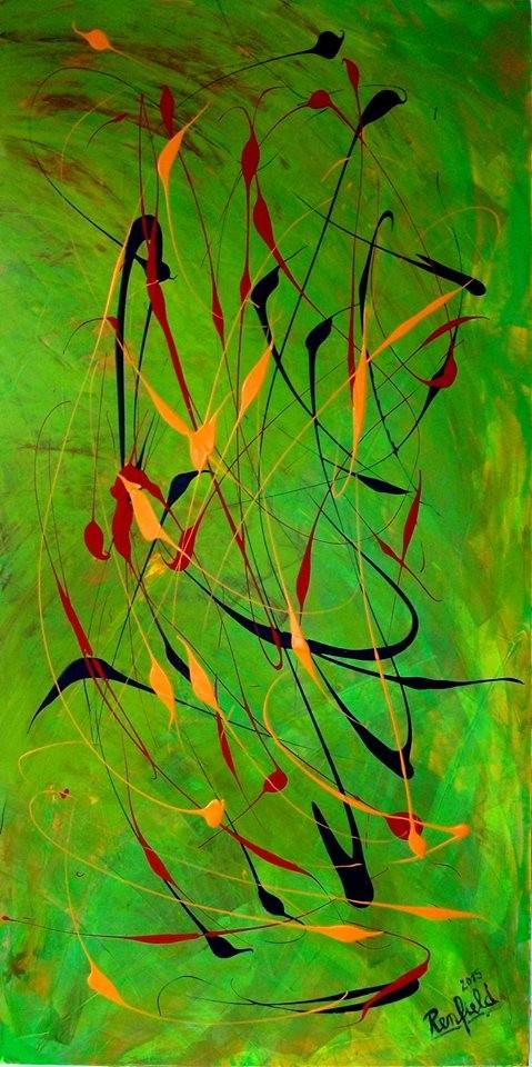 Abstrakt Clasics 5 (70 x 140) Acryl auf Leinwand