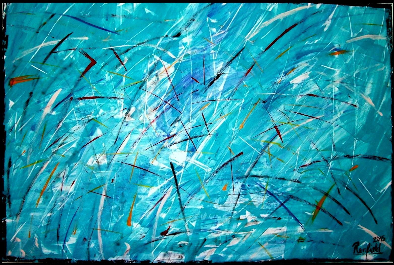 Blue Vision 3 (150 x 100) Acryl auf Leinwand