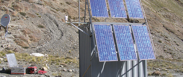 Stand alone measuring station with solar technology from Solara.
