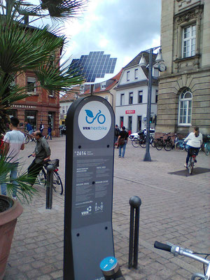 Solar system for a bicycle station - with individual SOLARA solar panels, also beautiful solar power!