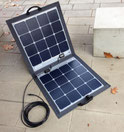 Foldable solar module for mobile and flexible use and installation. Ideal for camping, camper, camper, sailing boat and on the go wherever solar power is needed.