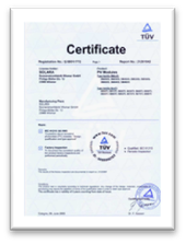Highest solar panel quality certified from German TÜV